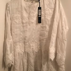 Nicole Miller Sheer Blouse XL NWT